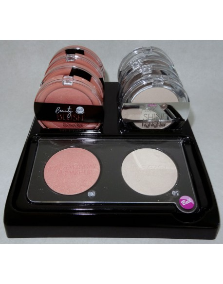 Présentoir Beauty Blush Powder 03 & Full Shine Highlighter